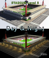 3d model of stadium level 5