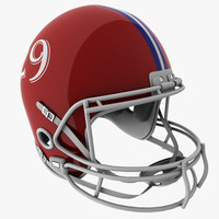3ds max american football helmet