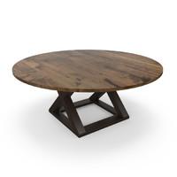 hudson x-base table 3d max