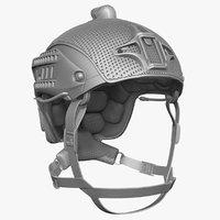 3d model ballistic helmet