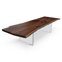 HUDSON SOLID SLAB W/PLEXI BASE TABLE