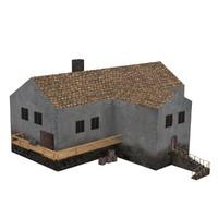 building medieval tavern 3d fbx