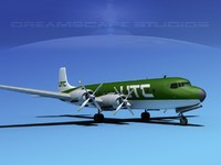 douglas dc-7c dc-7 transport 3ds