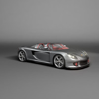 3d porsche carrera gt car model