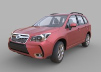 subaru forester 2014 interior 3d model