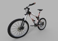 generic mountain bike 3d model