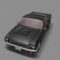 1966 shelby mustang sport 3d max