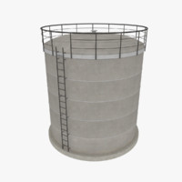 oil cistern 3d 3ds