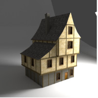 3d model tudor style ready house