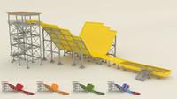 slalom slide water 3d model