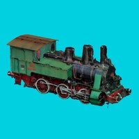 free max model old locomotive
