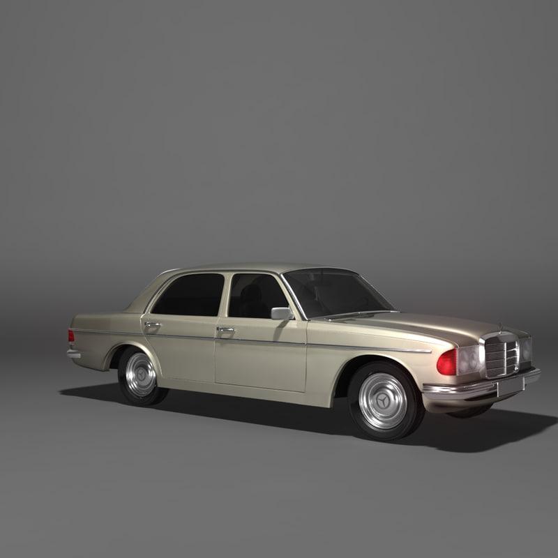 3d model mercedes benz 123 series for Mercedes benz different models