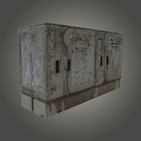 dirty electricity box 3d obj