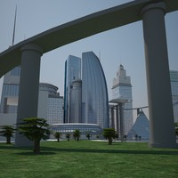 buildings futuristic 3ds