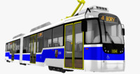 czech tram variolf2 3d model