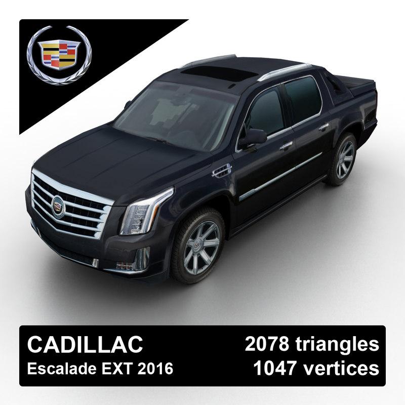 Ext Cadillac: 3d Model 2016 Cadillac Escalade Pickup