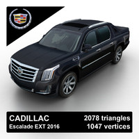 3d model 2016 cadillac escalade pickup