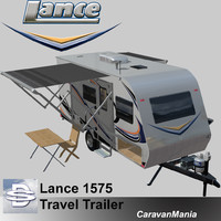 3d model of lance travel trailer 1575