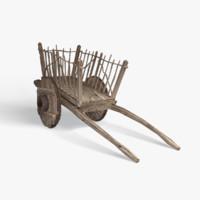 3d model medieval cart