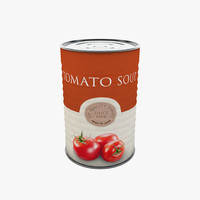 3ds max food - tomato soup