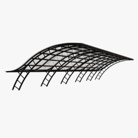 3ds max metal parking shelter