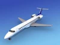 embraer erj airline 3d model