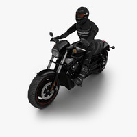 3d 2010 harley-davidson night rod