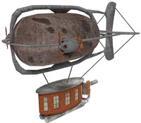 3ds blimp steam punk