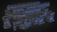 medieval castle pack 3d 3ds