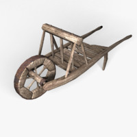 3ds max medieval wheelbarrow environmental