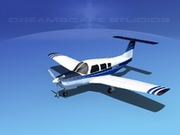 propeller piper pa-28 arrow 3d max