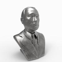 3d bust vladimir putin head model