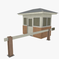 gate house 3d obj