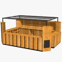 wooden kiosk 3ds