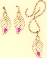 necklace earrings 3d 3ds
