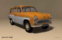 3ds max mzma 423n moskvitch
