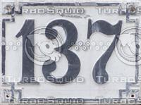 Street number sign