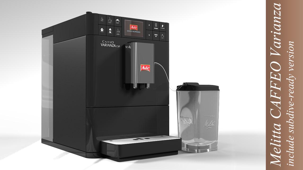Melitta Non Electric Coffee Maker : 3d coffee machine melitta model