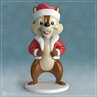 free obj model cartoon chipmunk