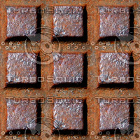 Rusty metal grid 1