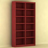 bookcase 3d max