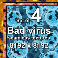 Bad Virus 4x Seamless Textures