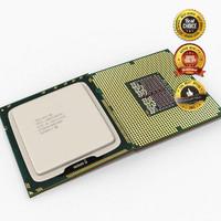 cpu intel i7 component 3d model