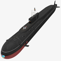 k-535 yuri dolgorukiy submarine 3d model