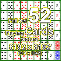 Full Set of 52 Playing Cards Textures