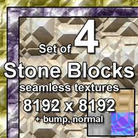 4 Stone Blocks Seamless Textures