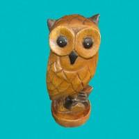 wooden owl 3d 3ds