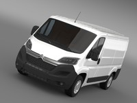 citroen relay van l1h1 3d model