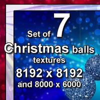 Christmas Balls 7x Textures