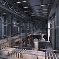 industrial interior 3d x